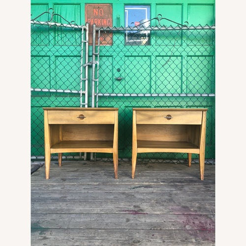 Used Pair of Mid Century Nightstands with Single Drawer for sale on AptDeco