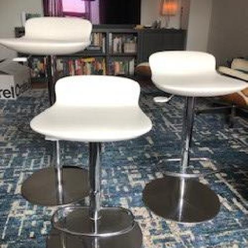 Used Room & Board Leo Adjustable Swivel stools for sale on AptDeco