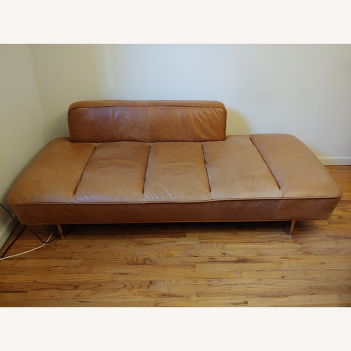 Used CB2 Lawndale Saddle Leather Daybed for sale on AptDeco