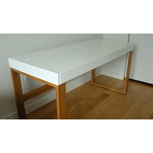Used Modern Cb2 Torino Desk With Sliding Top Compartment for sale on AptDeco