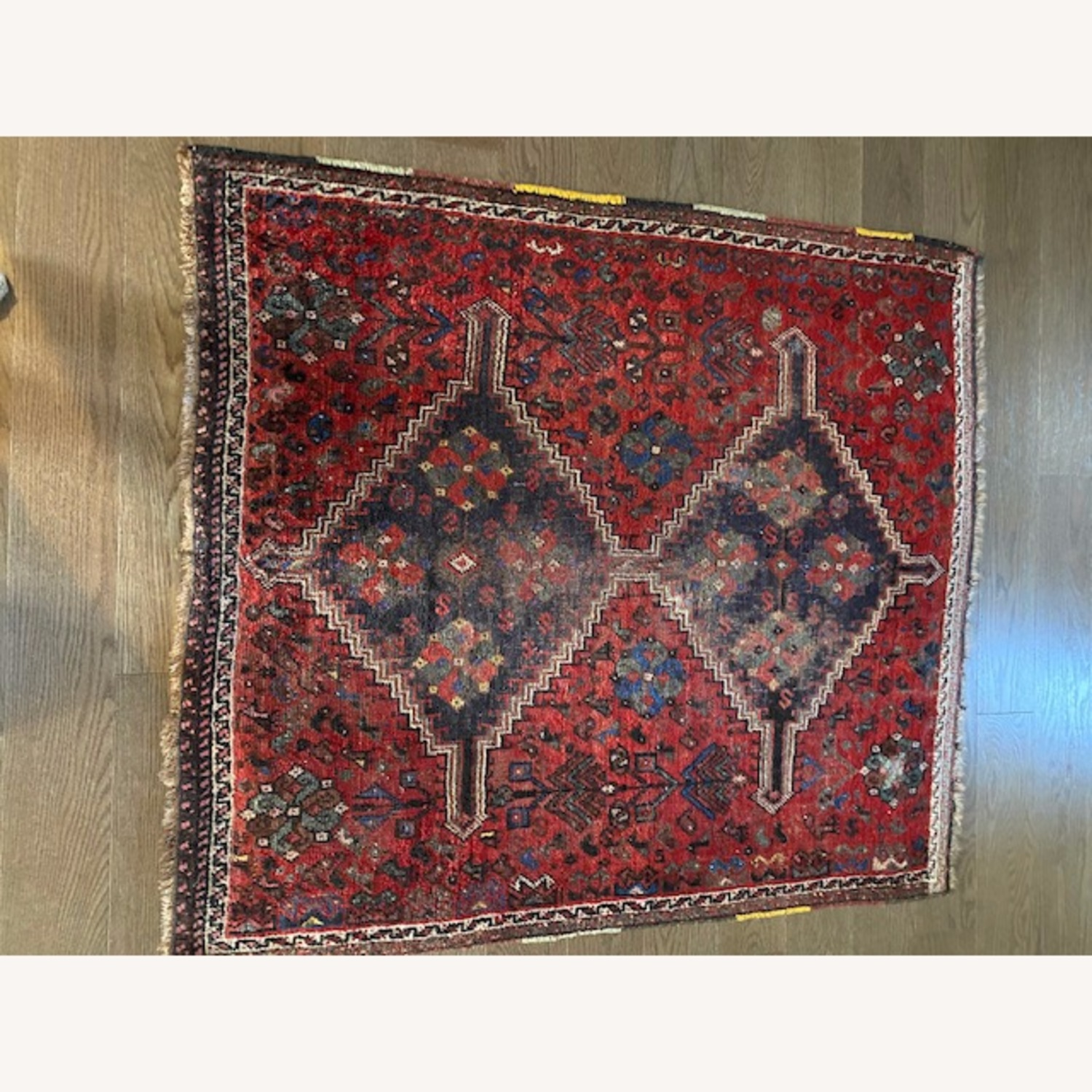 Vintage Persian Hand-knotted Wool Tribal Rug - image-4