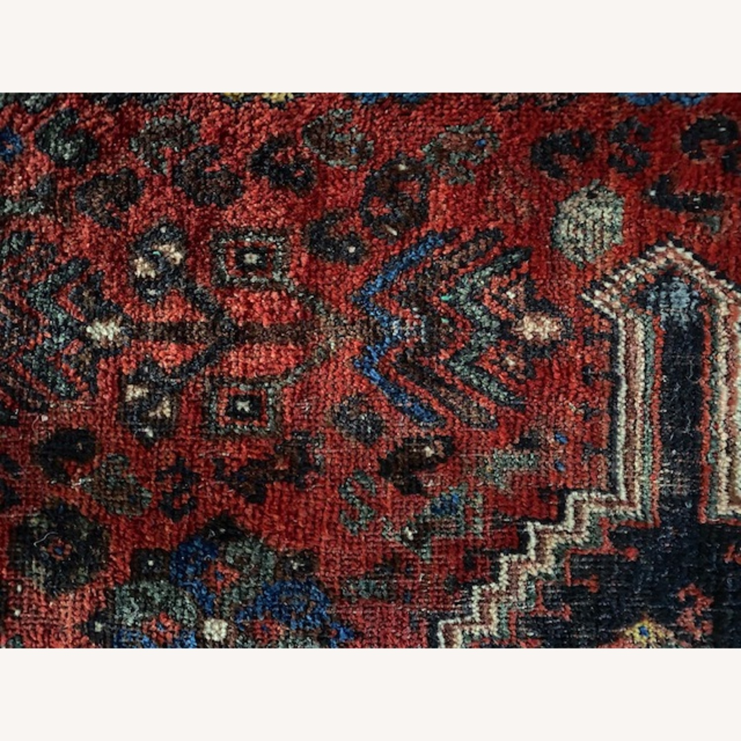 Vintage Persian Hand-knotted Wool Tribal Rug - image-1