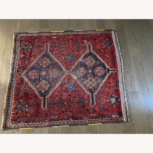 Used Vintage Persian Hand-knotted Wool Tribal Rug for sale on AptDeco