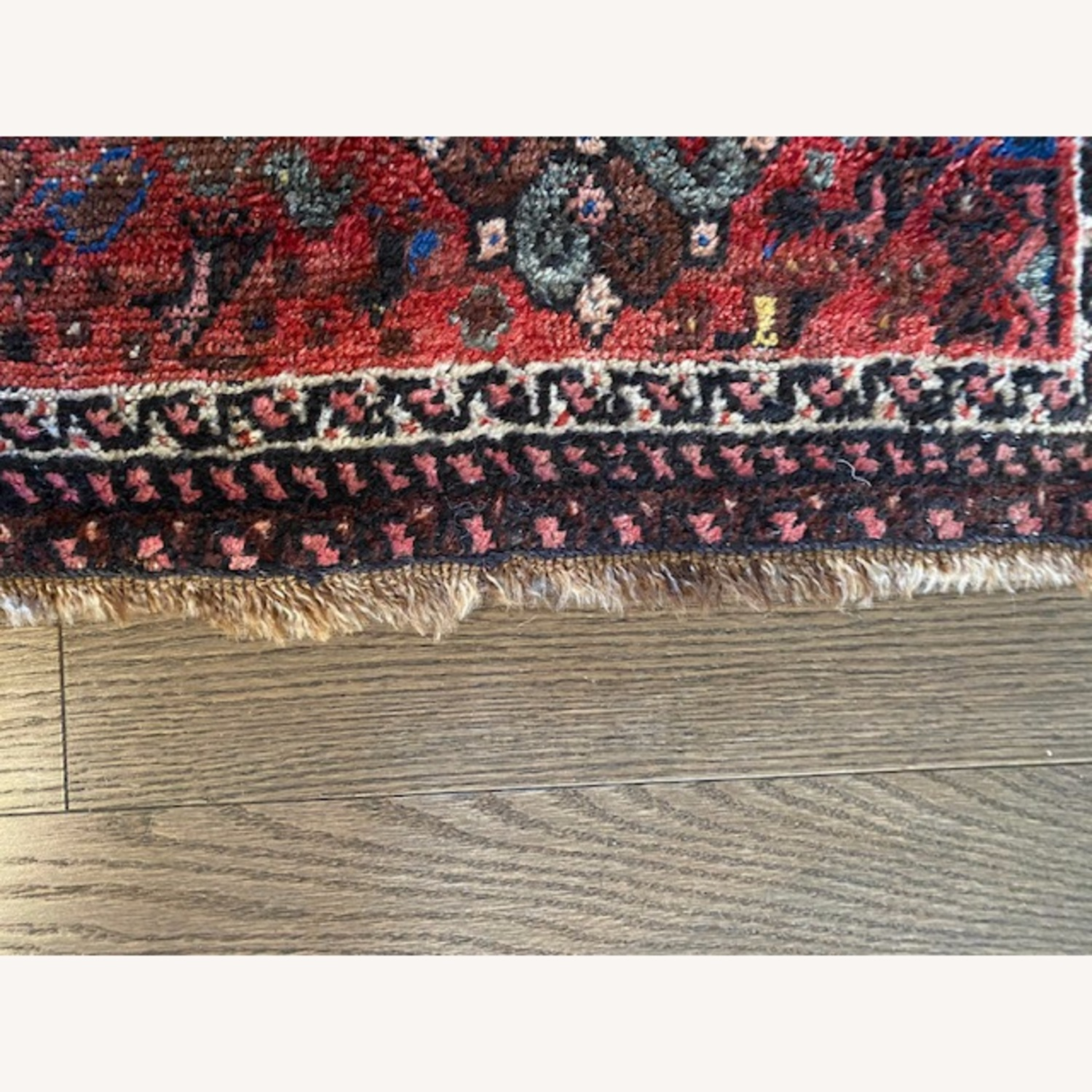 Vintage Persian Hand-knotted Wool Tribal Rug - image-3