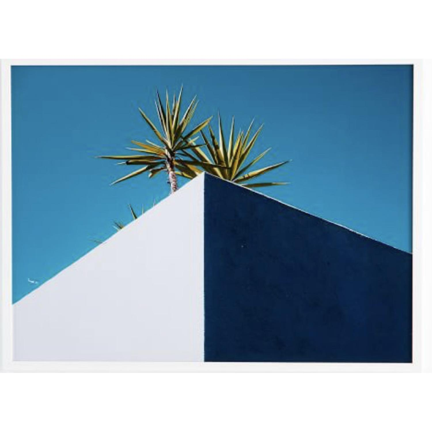 West Elm Framed Print - Palm Trees On A White Roof - image-1