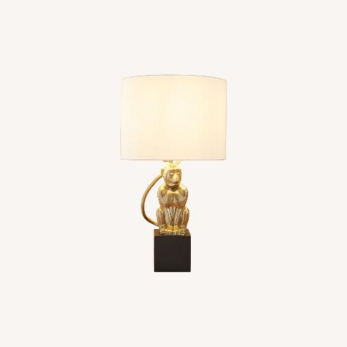 Used West Elm Perched Monkey Lamp for sale on AptDeco