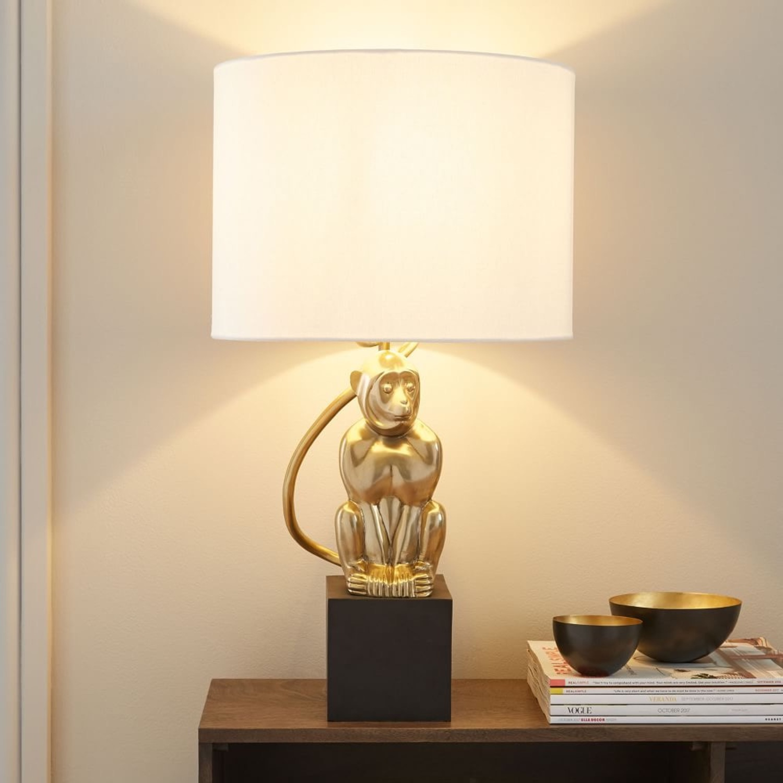 West Elm Perched Monkey Lamp