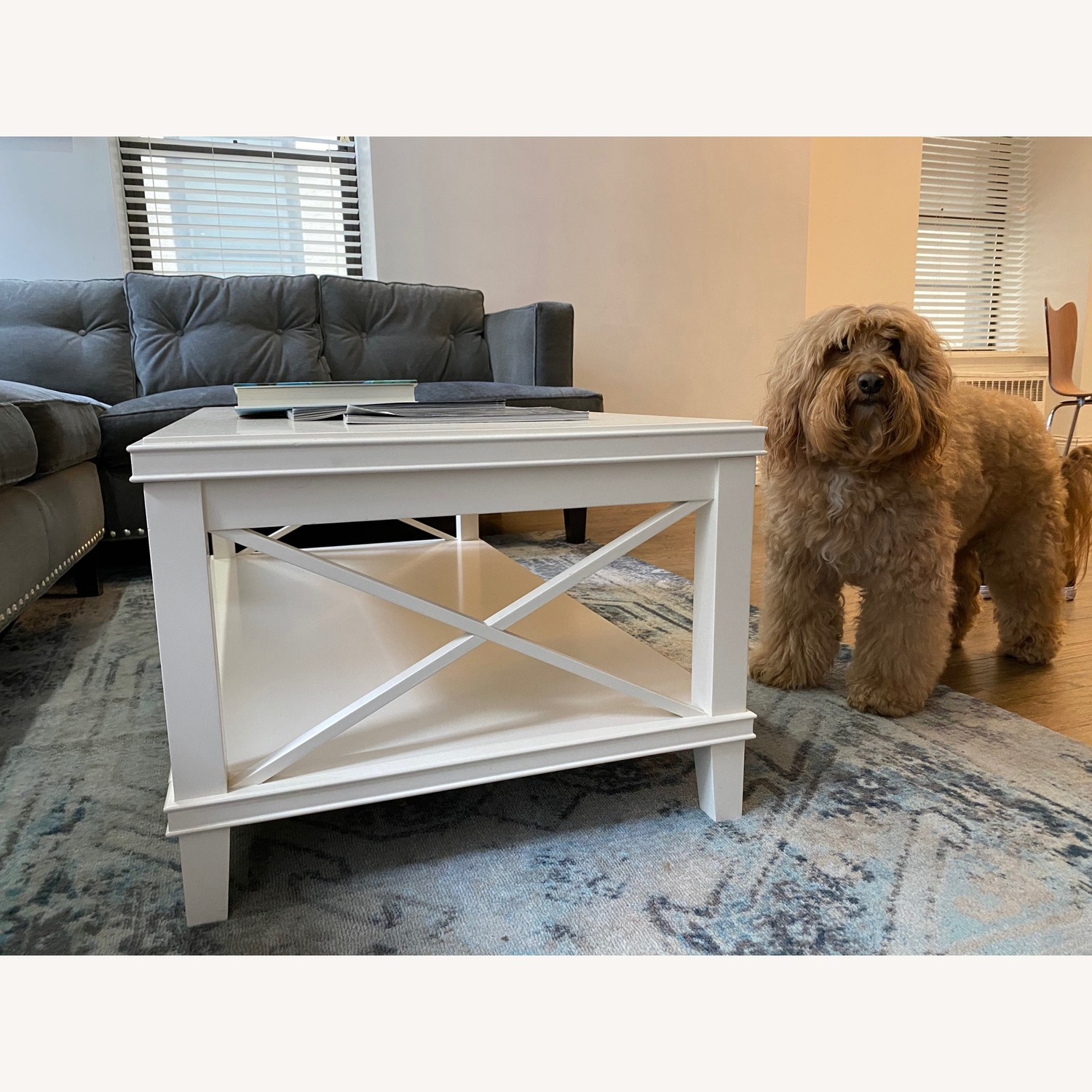 Pottery Barn White Cassie Coffee Table - image-3
