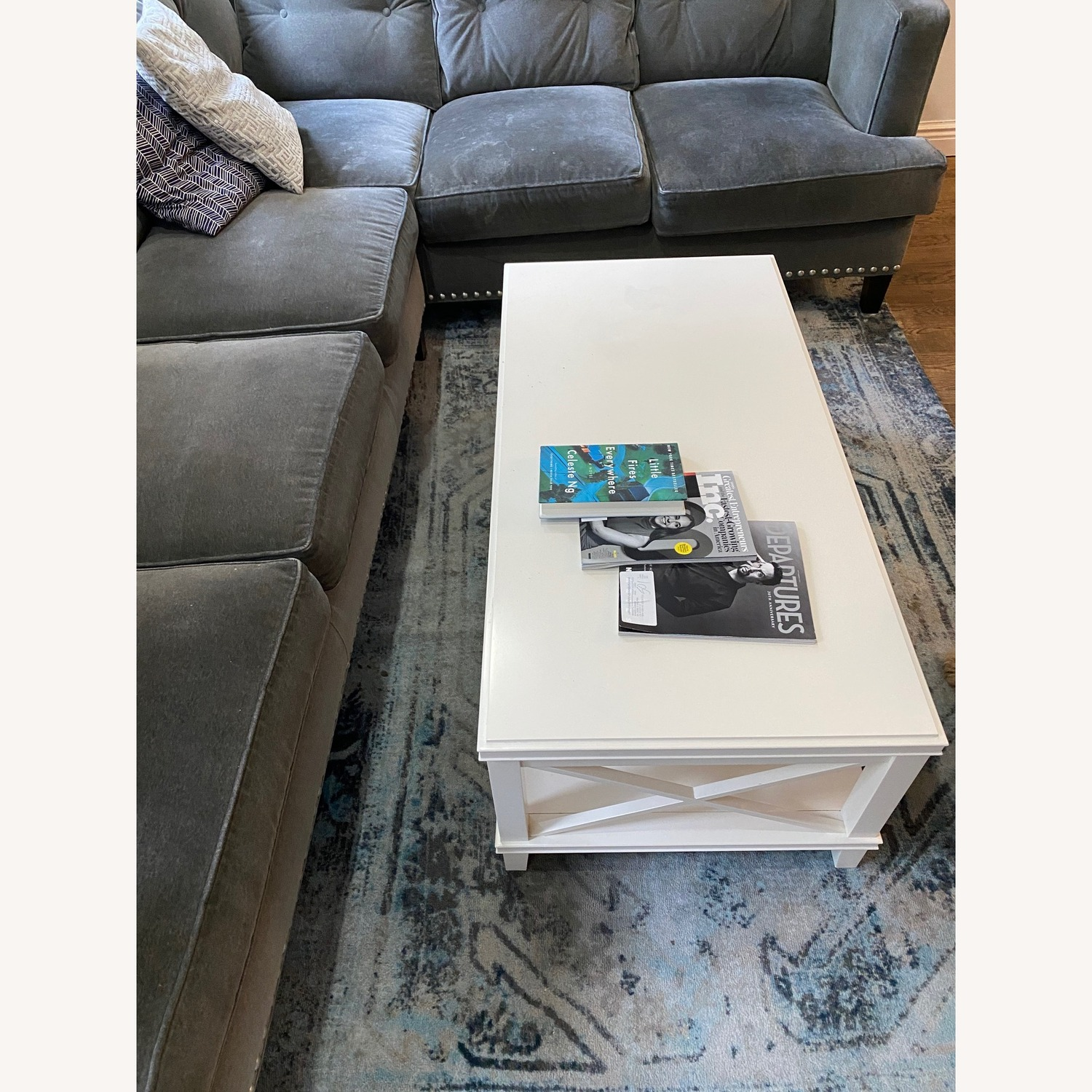 Pottery Barn White Cassie Coffee Table - image-2