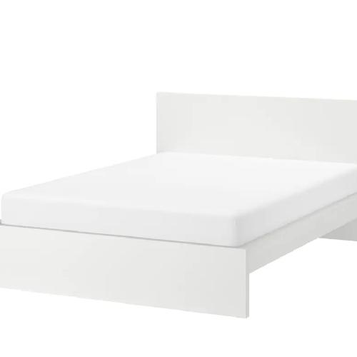 Used Bed Frame High White for sale on AptDeco