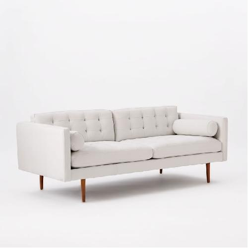 Used West Elm Monroe Mid-Century Leather Sofa for sale on AptDeco
