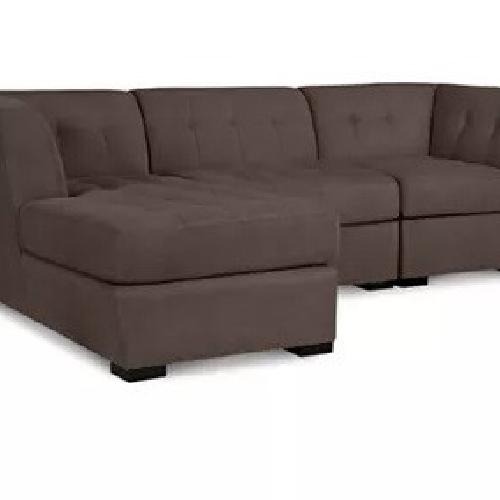 Used Macy's Dark Grey Sectional Couch for sale on AptDeco