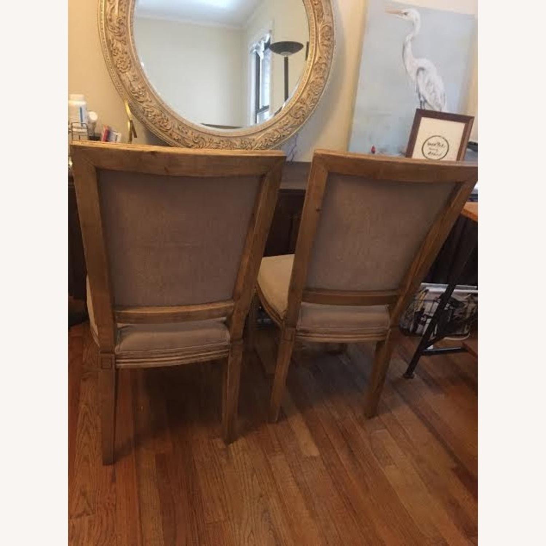 Restoration Hardware Vintage Beige Louis Dining Chairs - image-2