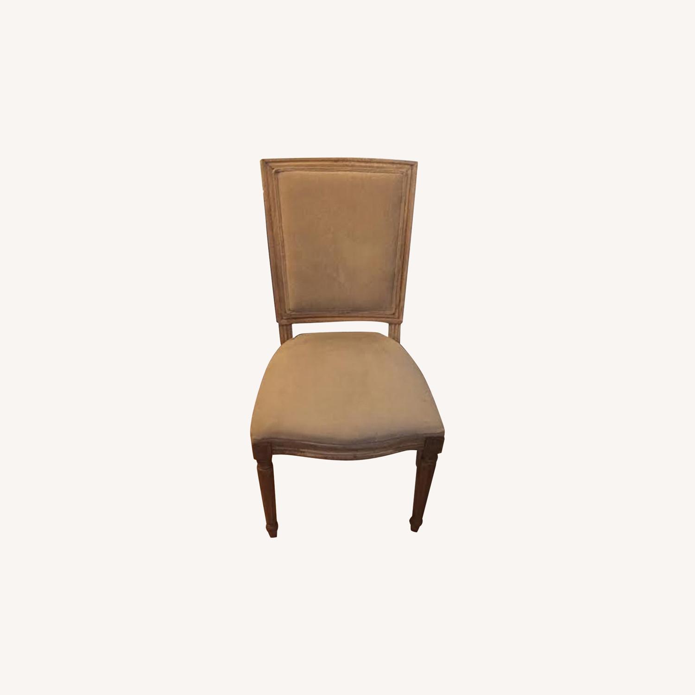 Restoration Hardware Vintage Beige Louis Dining Chairs - image-0