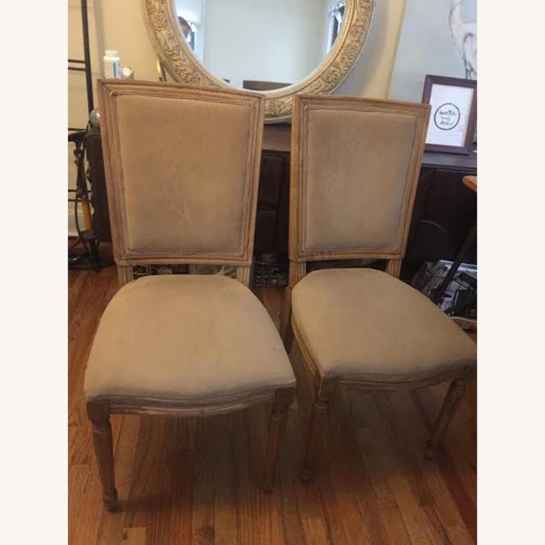 Restoration Hardware Vintage Beige Louis Dining Chairs - image-1