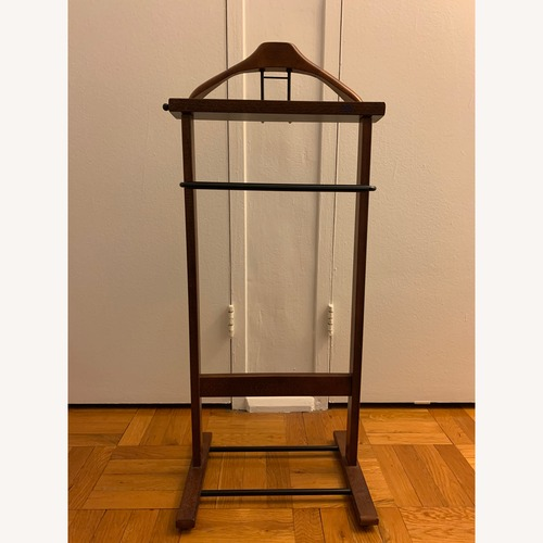 Used Wooden Wardrobe Valet Stand for sale on AptDeco