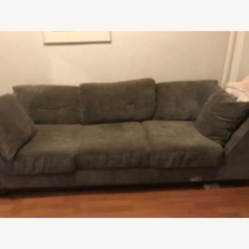 Used Macy's 3 seater sofa in dark grey for sale on AptDeco