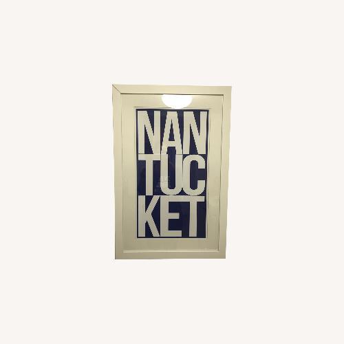 Used Melissa Van Hise Nantucket in Navy Print with Frame for sale on AptDeco