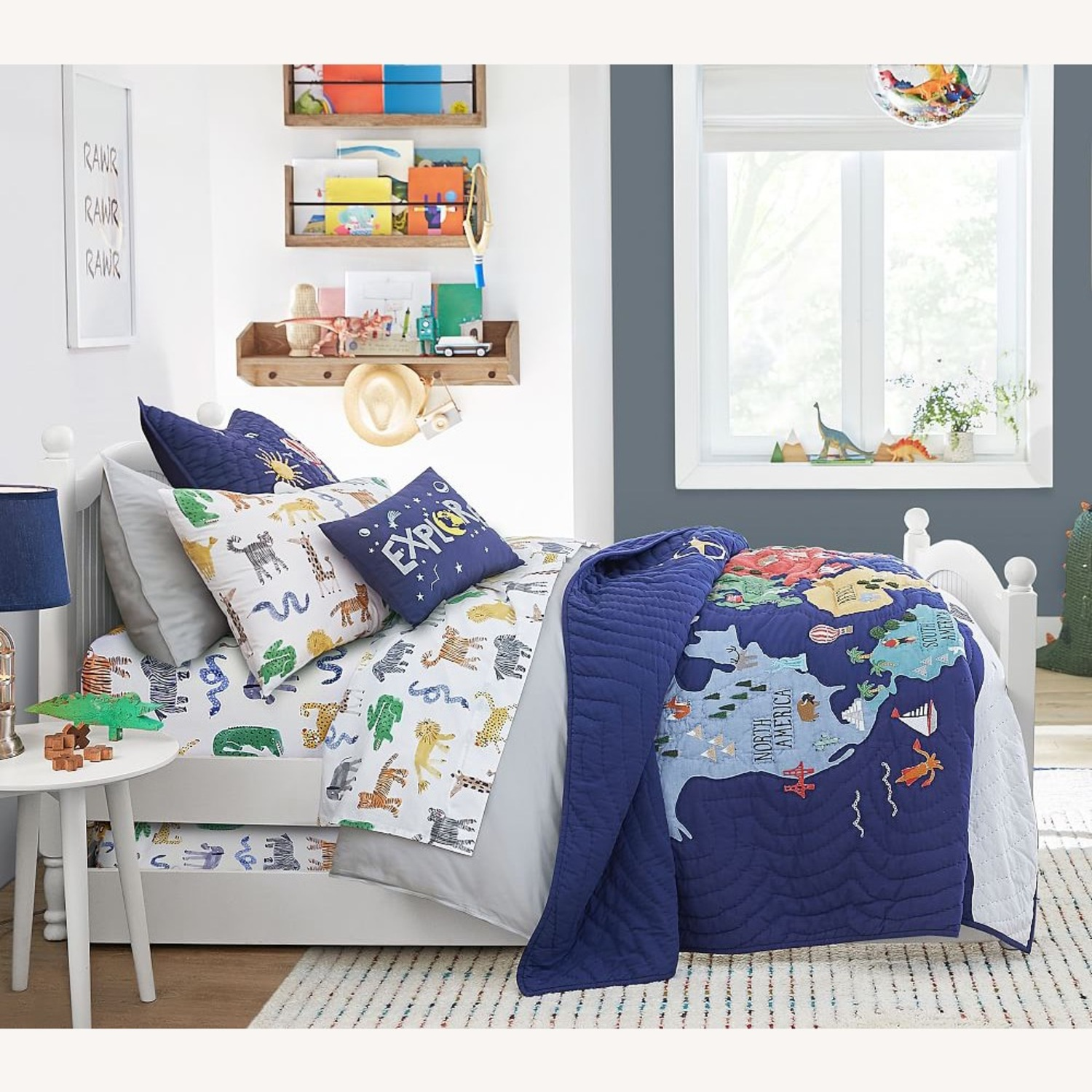 Pottery barn kids bed with trundle - image-1