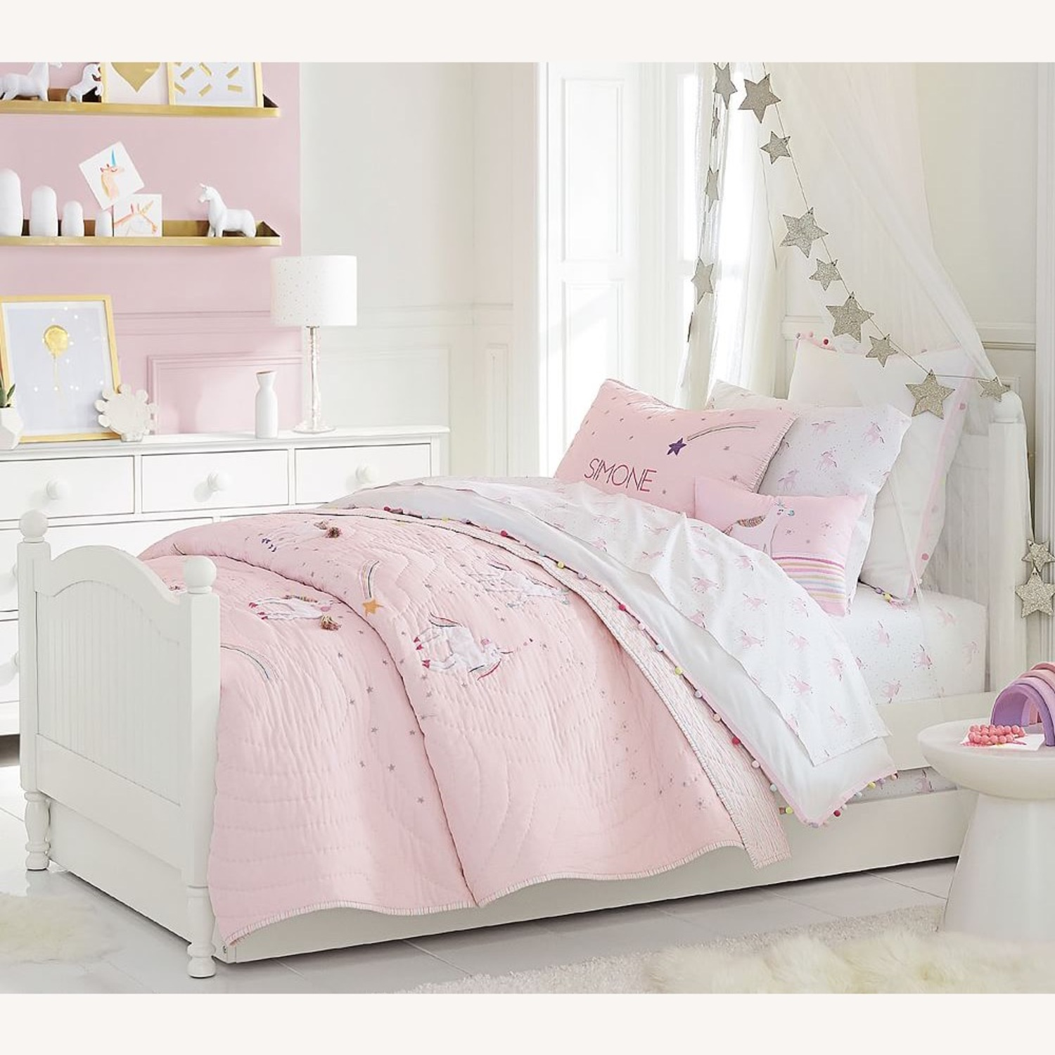 Pottery barn kids bed with trundle - image-2
