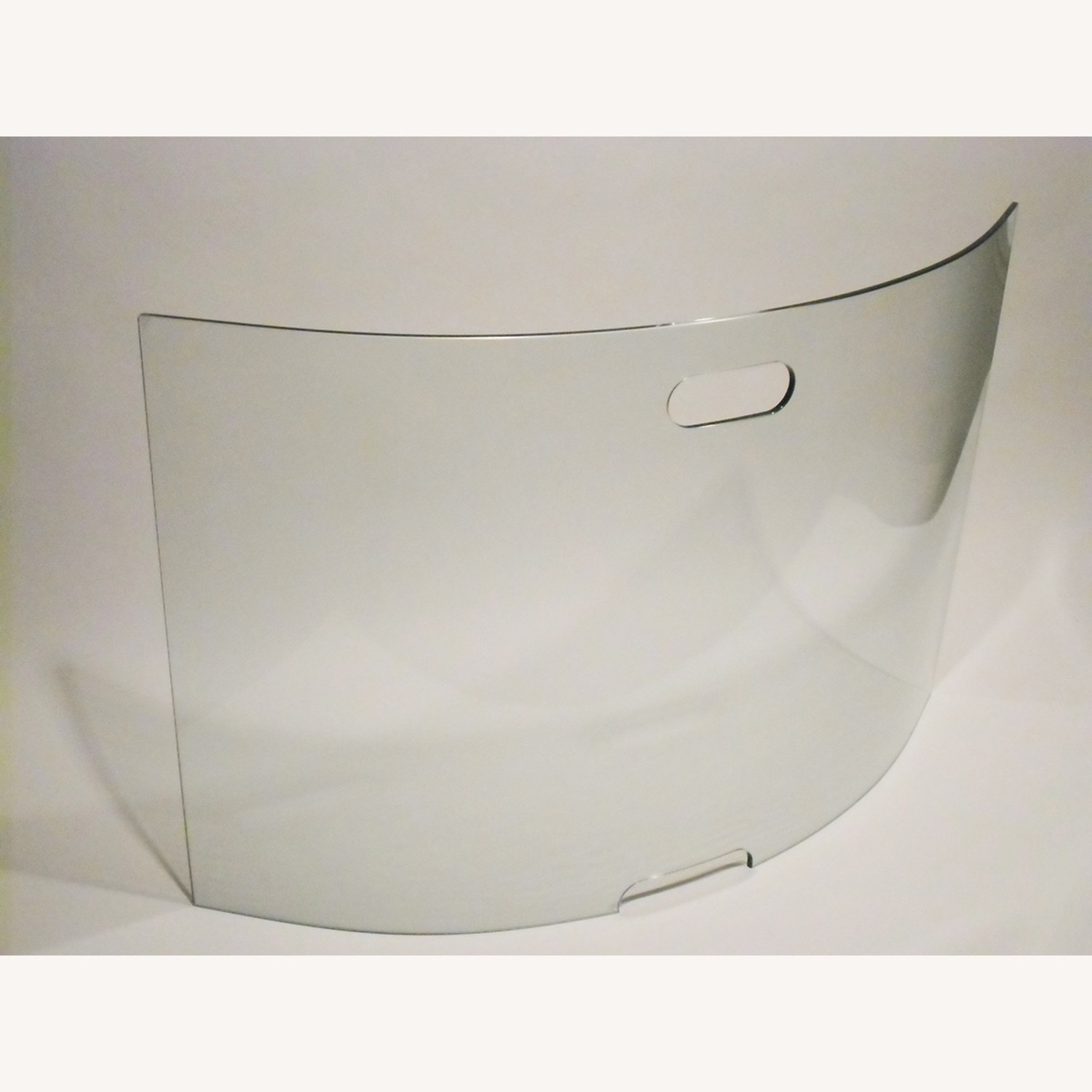Curved Panel Glass Fireplace Screen
