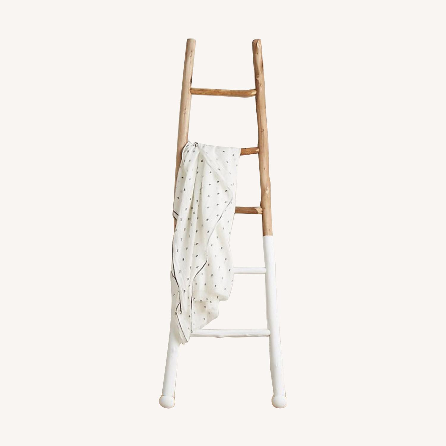 Anthropologie White-Dipped Ladder