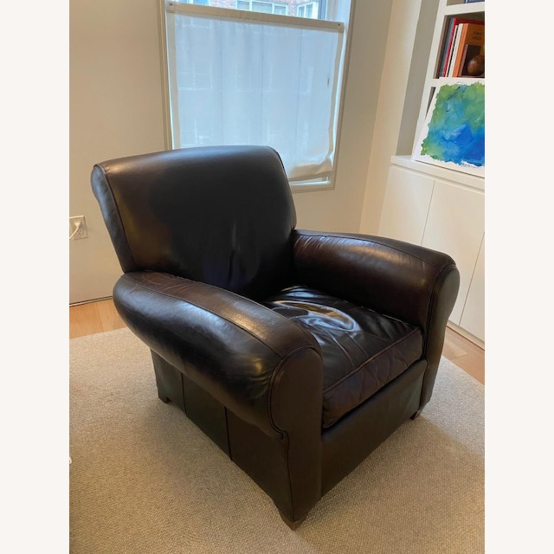 Pottery Barn Leather Club Chair Aptdeco