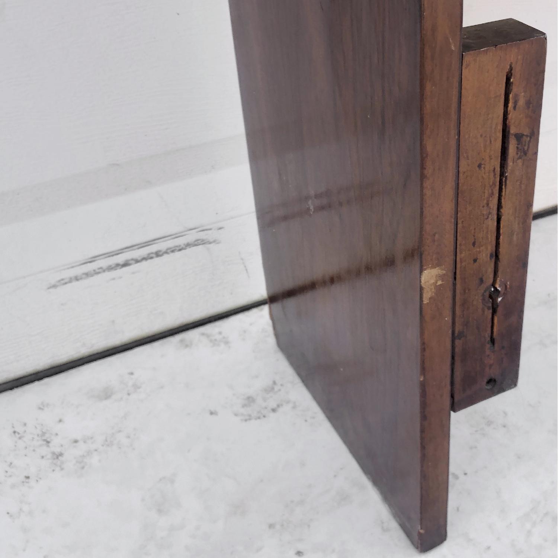 Mid-Century Queen Size Walnut Storage Headboard - image-1