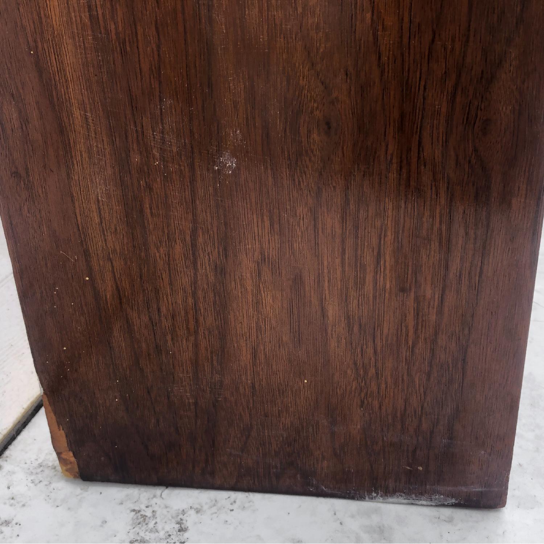 Mid-Century Queen Size Walnut Storage Headboard - image-5