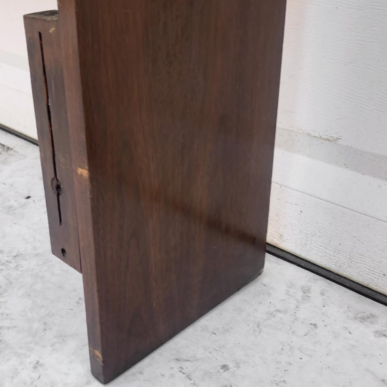 Mid-Century Queen Size Walnut Storage Headboard - image-10