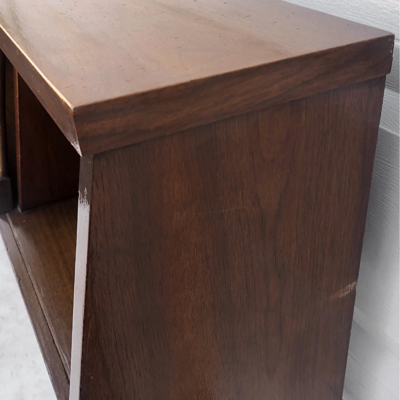 Mid-Century Queen Size Walnut Storage Headboard - image-13