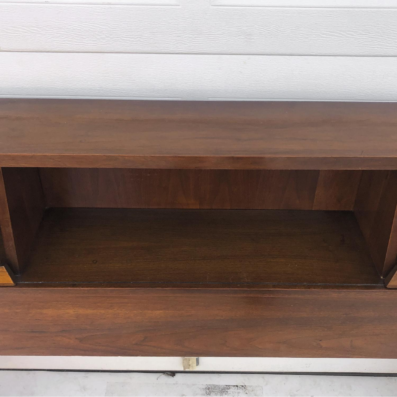 Mid-Century Queen Size Walnut Storage Headboard - image-12