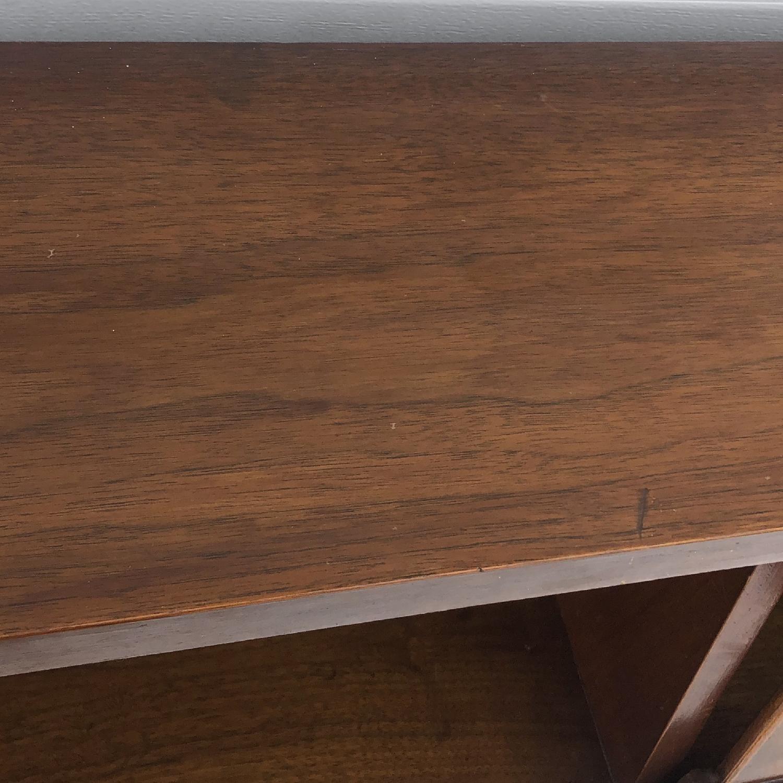 Mid-Century Queen Size Walnut Storage Headboard - image-15