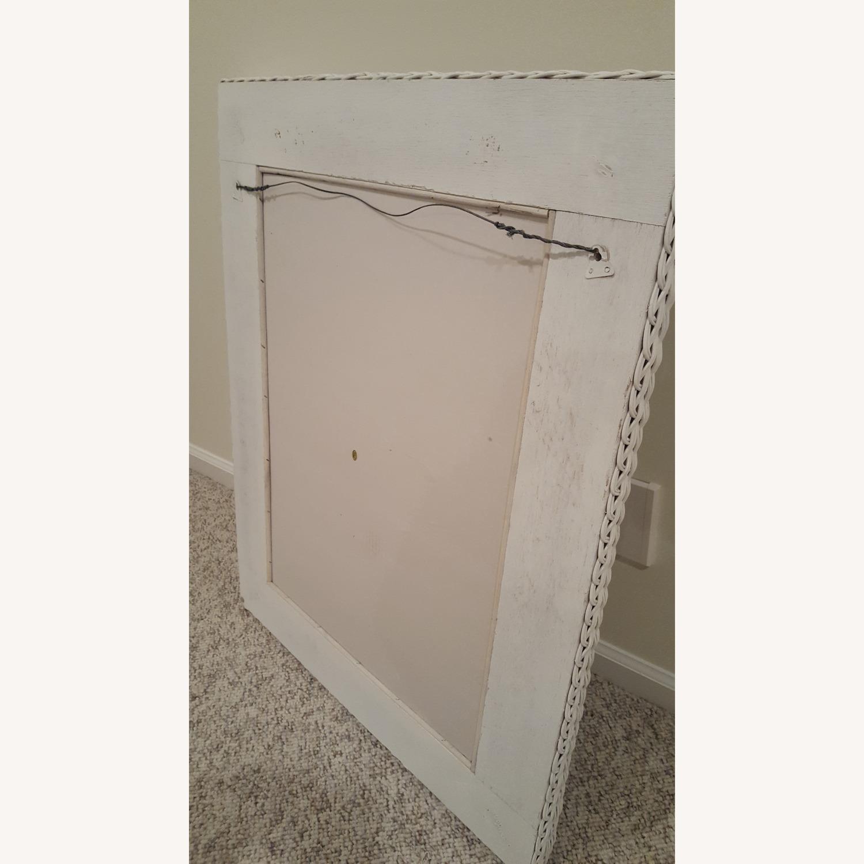 White Wicker Mirror - image-3