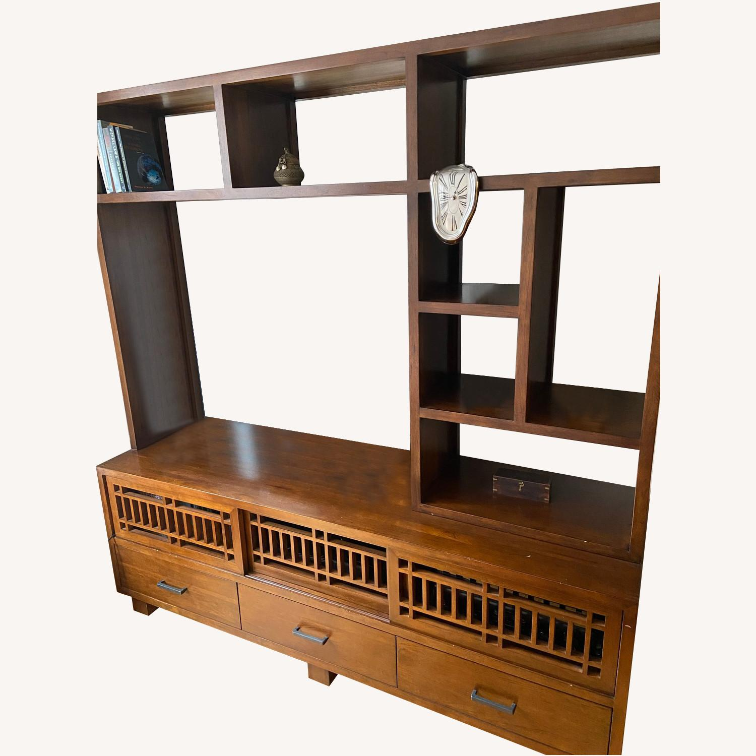 Beautiful Crate and Barrel Media Console and Hutch - image-0