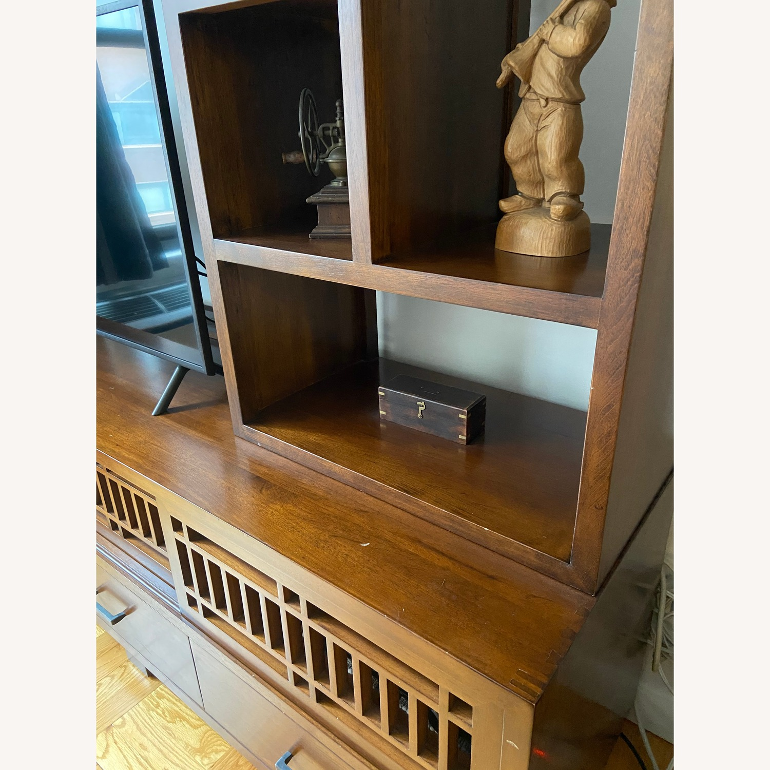 Beautiful Crate and Barrel Media Console and Hutch - image-2