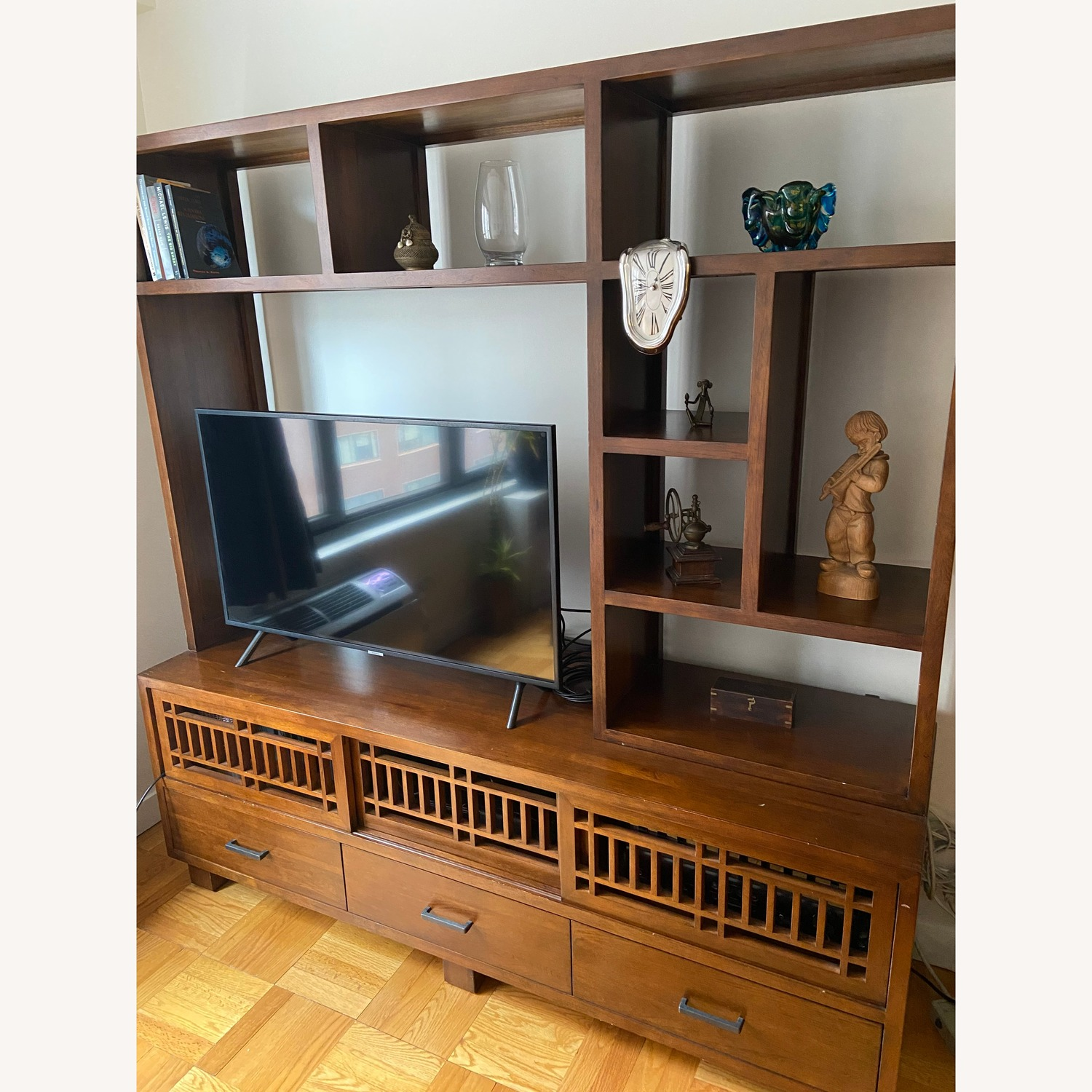 Beautiful Crate and Barrel Media Console and Hutch - image-1