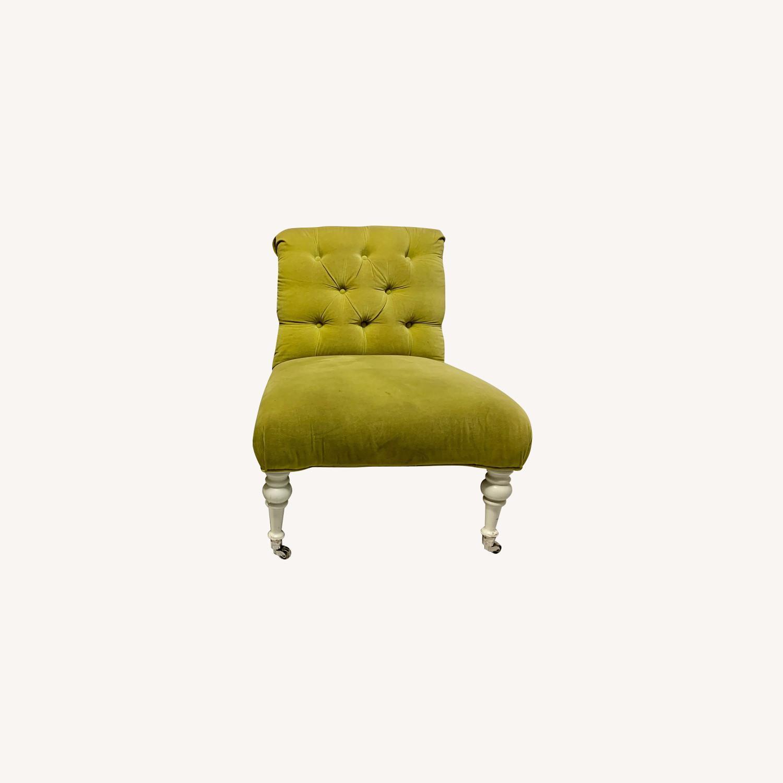Velvet Tufted Slipper Chairs - Set of 2 - image-0