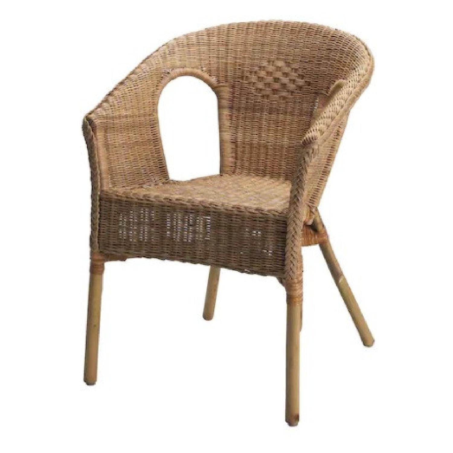 IKEA Rattan / Bamboo Accent Chair - image-0