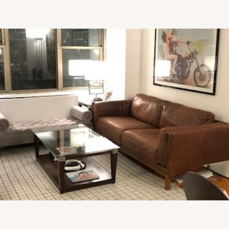 West Elm Weston Leather Sofa in Molasses - image-2