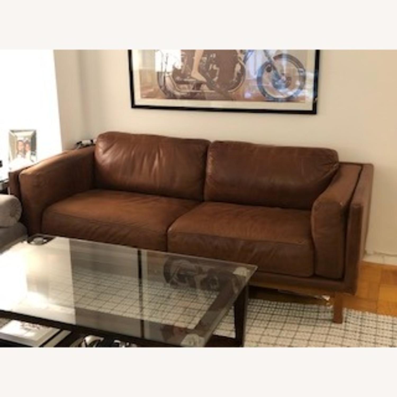 West Elm Weston Leather Sofa in Molasses - image-1