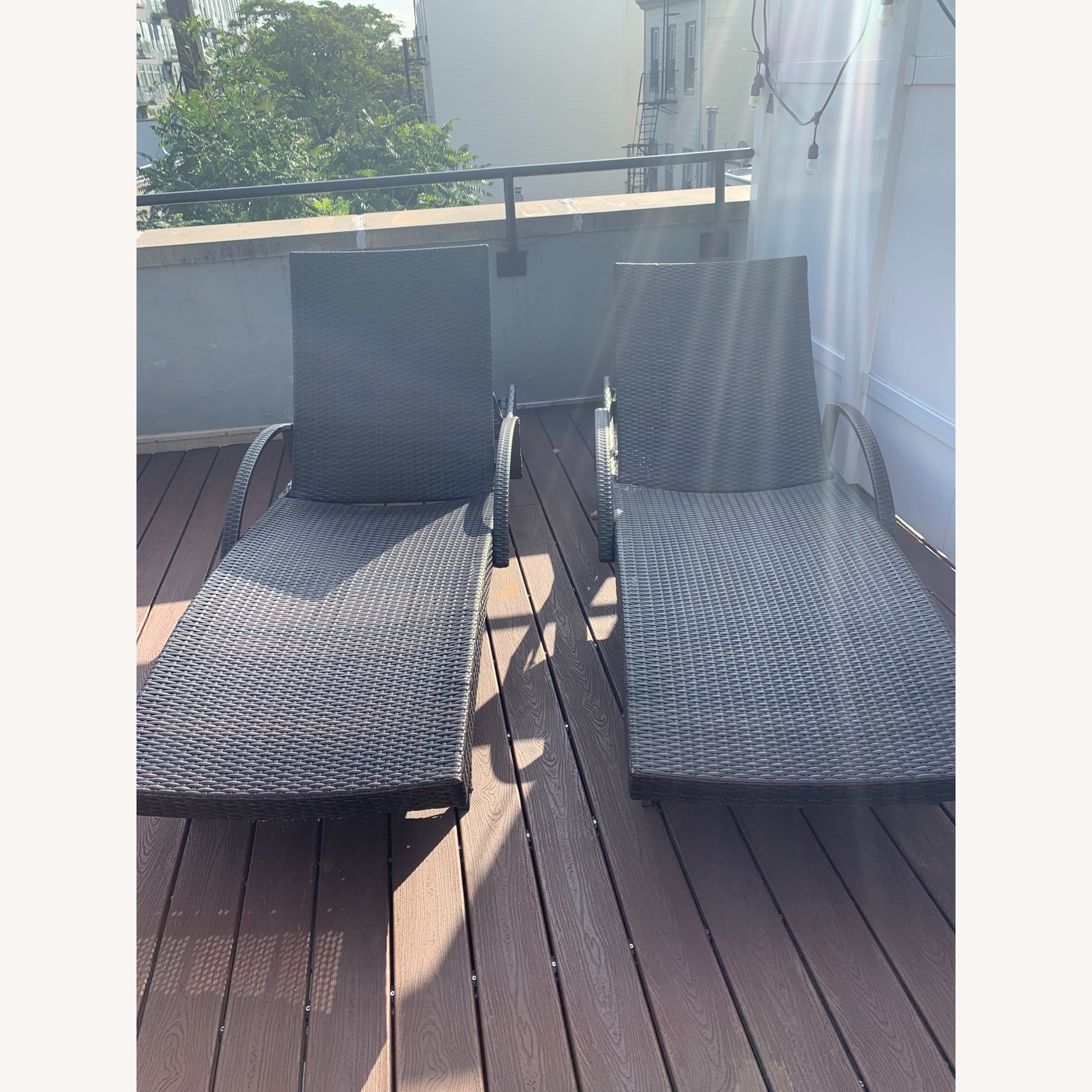 Rebello Outdoor Reclining Chaise Loungers - image-1
