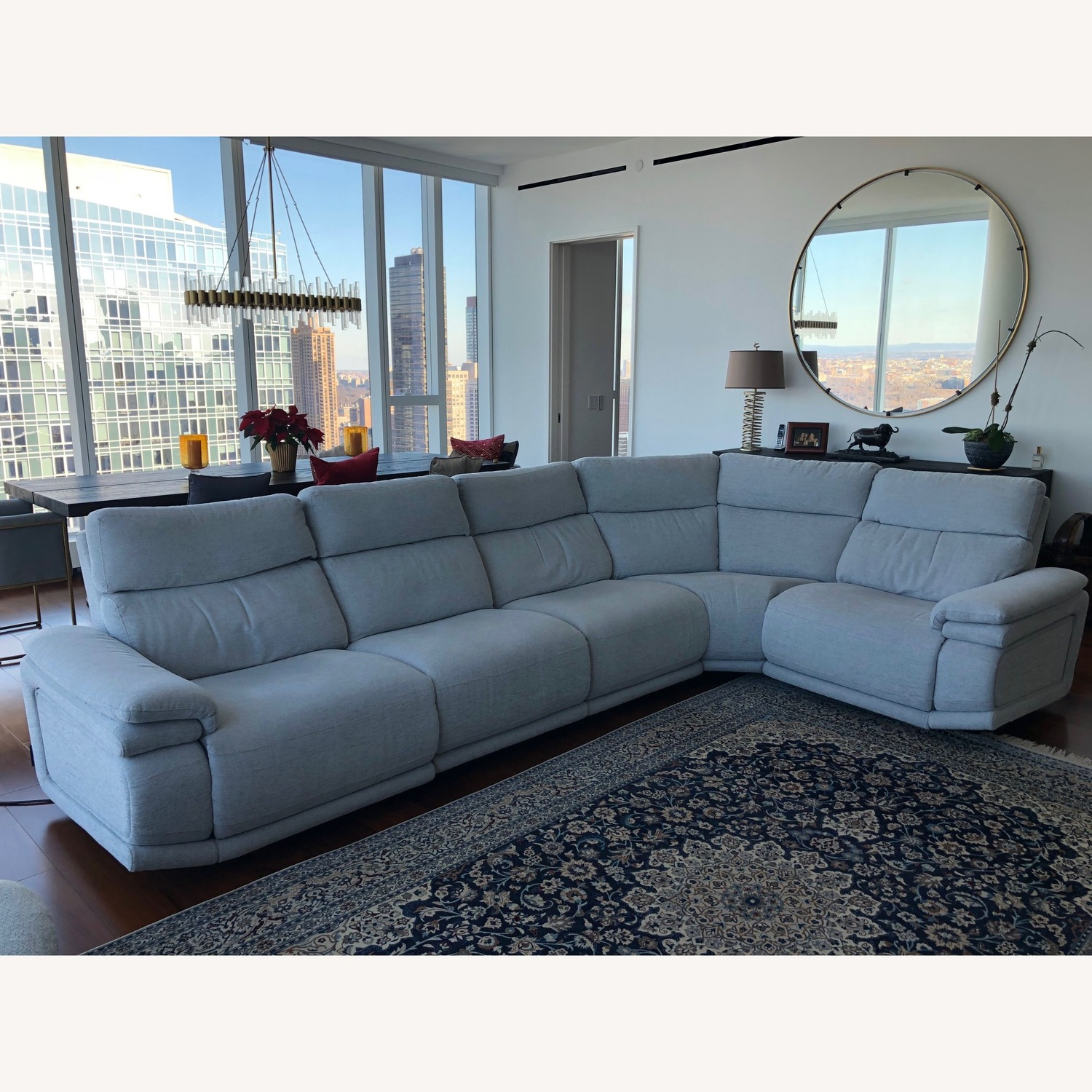 Bloomingdales Furniture Clearance Center: Chateaux D'Ax Astro Motion 5-Piece Sectional