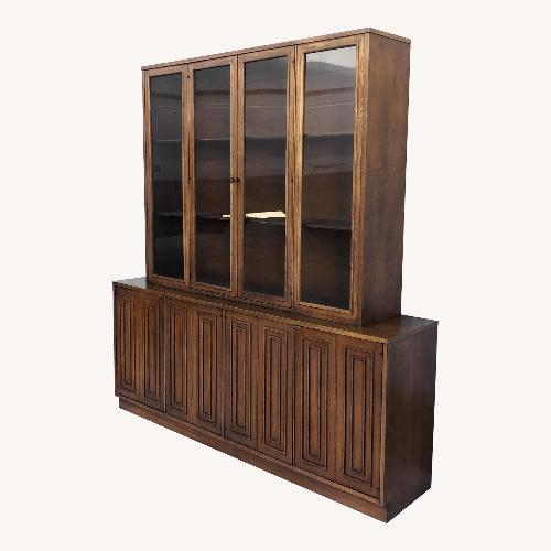 Used Broyhill Sculptra Mid-Century Modern Two-Piece Breakfront for sale on AptDeco
