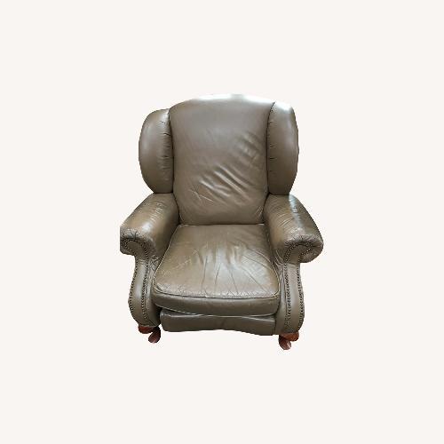 Used Light Brown Lane Leather Recliner Set for sale on AptDeco