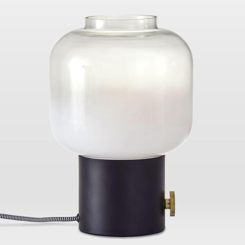 West Elm Glass Jar Table Lamp