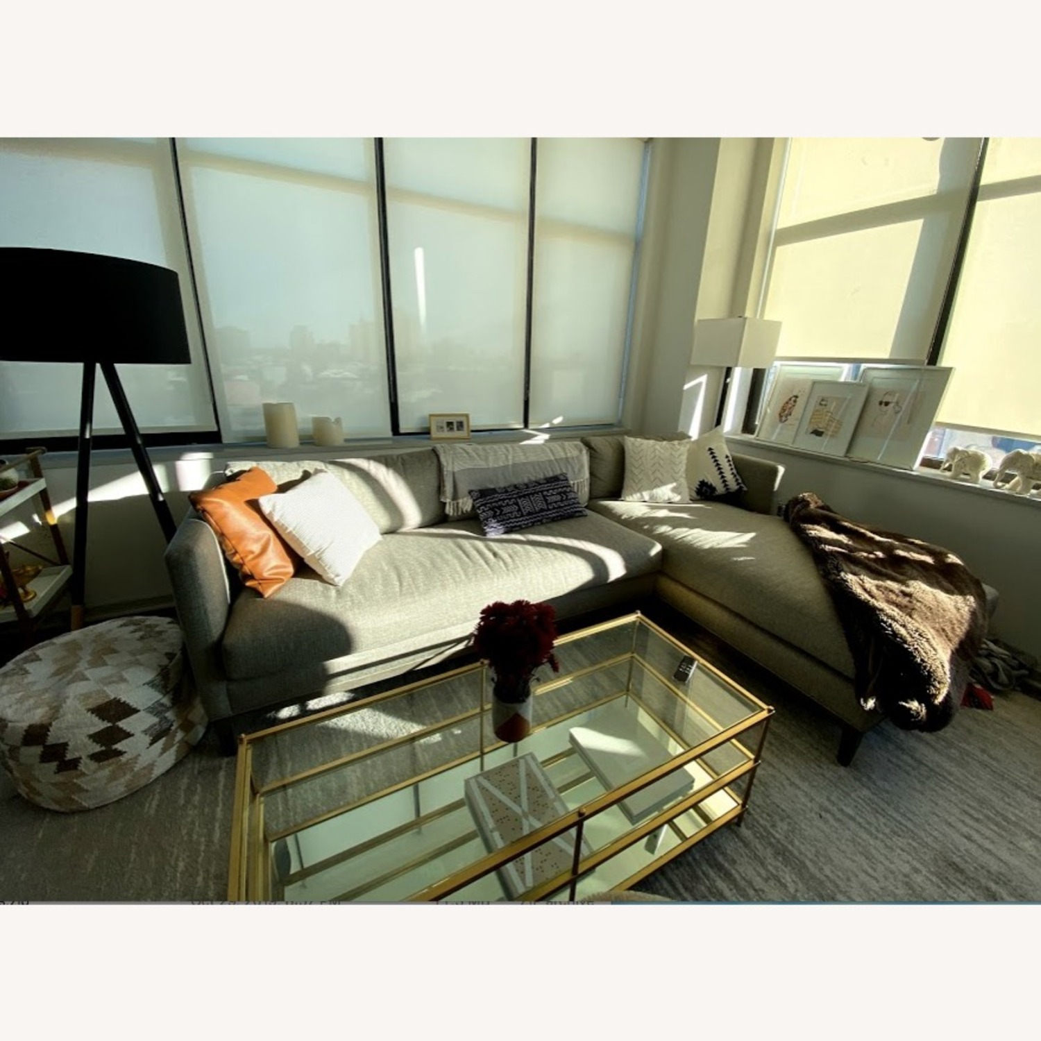 Safavieh Mid Century Modern Sectional w/Chaise - image-2