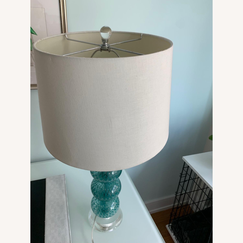 Gorgeous Blue Glass Lamp