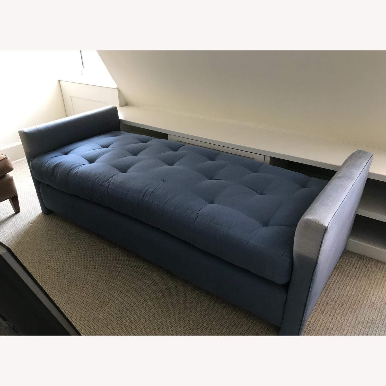 Blue upholstered Daybed