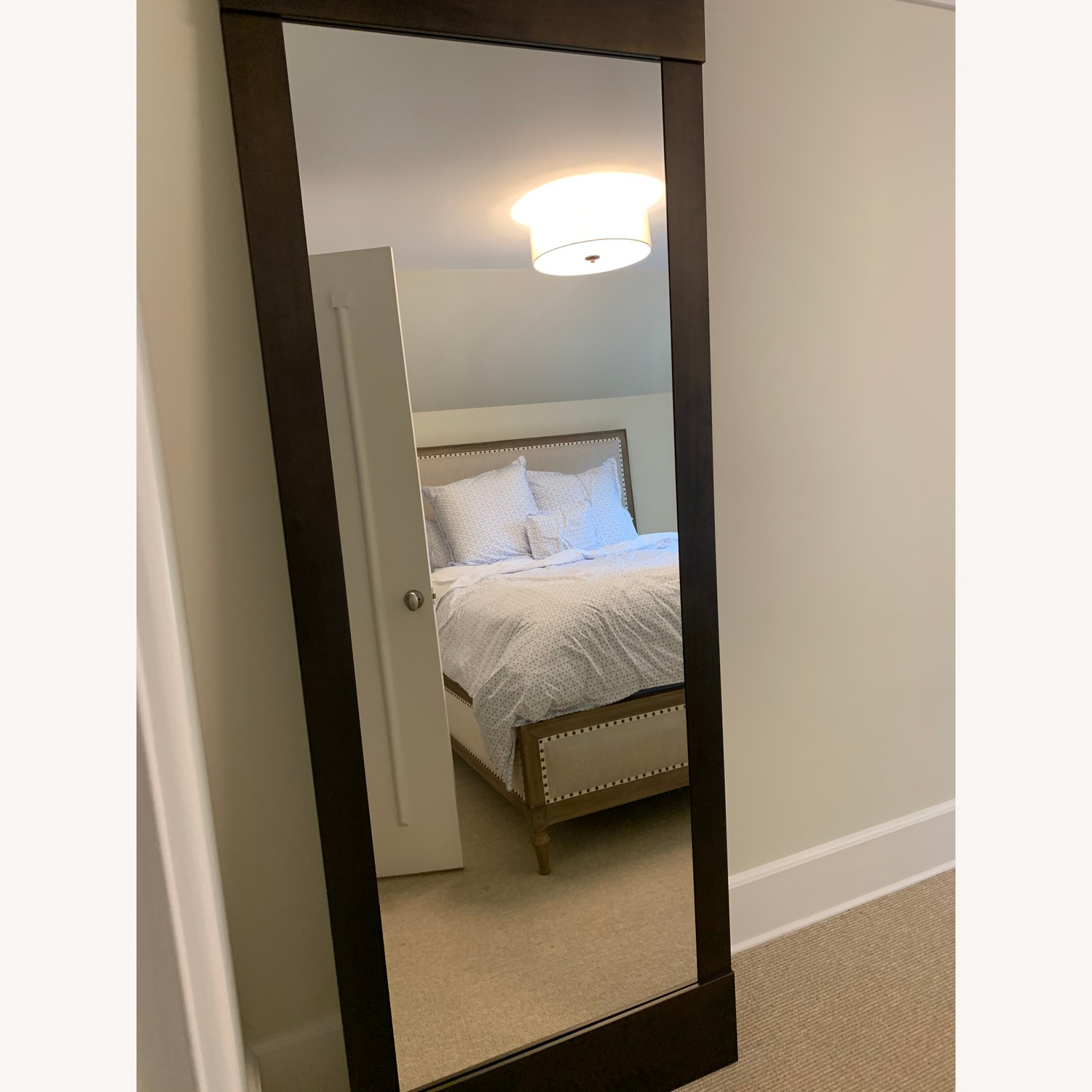 Crate and Barrel Bronze Floor Mirror
